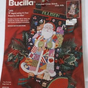 Bucilla Santa Christmas Stocking Kit NWT